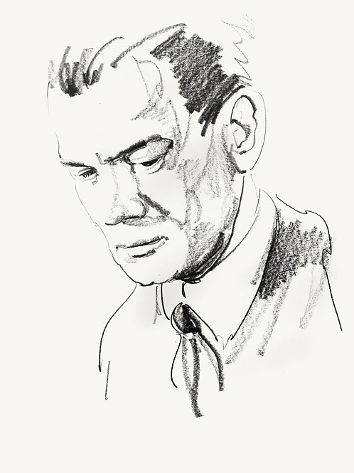 """THE THIRD MAN original recursive sketch """"HOLLY"""" #2"""