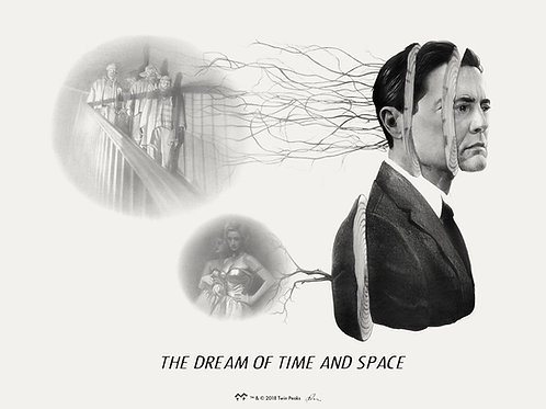"TWIN PEAKS single  ""THE DREAM OF TIME AND SPACE"" giclee SAP EDITION"