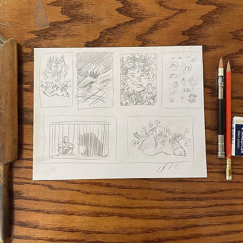 Original Midsommer concept sketches  2