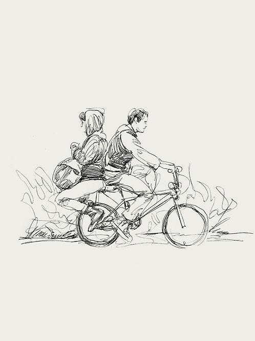 """GREEN ROOM Pvt og commission series """"Bike Ride recursive study"""""""