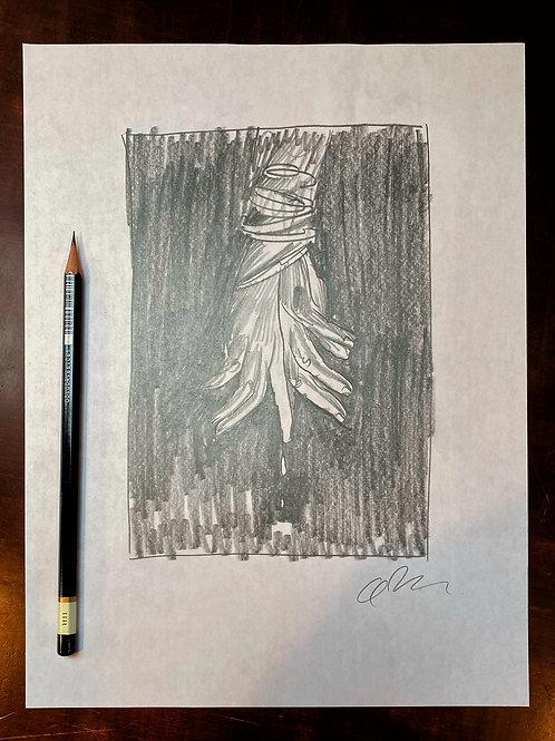 MEMORIES OF MURDER Criterion Collection graphite sketch 8