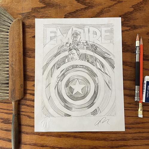 """Original EMPIRE MAGAZINE """"The Falcon and Winter Soldier"""" sketch 1"""
