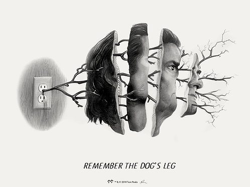 "TWIN PEAKS single  ""REMEMBER THE DOGS LEG"" giclee SAP EDITION"