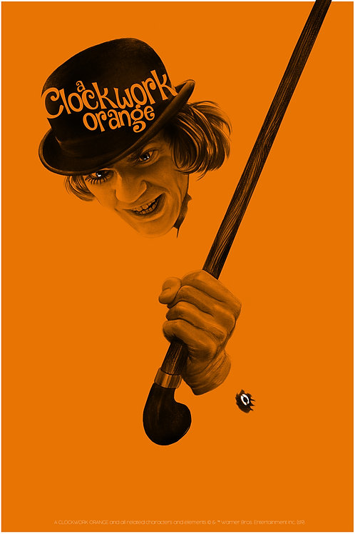 Mondo's A CLOCKWORK ORANGE AP screenprint (variant)