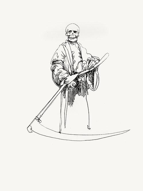"METROPOLIS Original ""DEATH"" recursive drawinG"