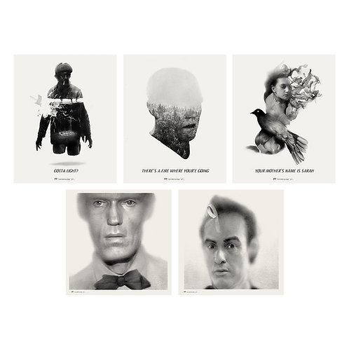 A TWIN PEAKS INTERPRETATION AP giclee set #5
