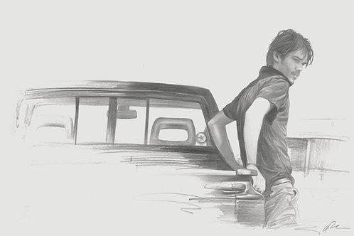Original final drawing for the IFC/Mondo BOYHOOD poster version B