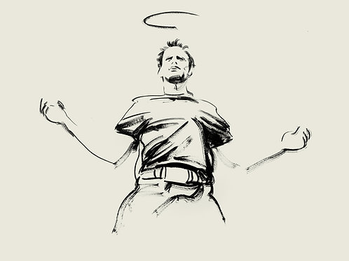 "JUSTIFIED pvt og Commission, themed original graphite studies ""Boyd #3"