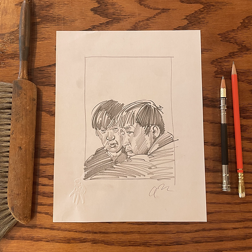 Original sketch for the Criterion Collection's MEMORIES OF MURDER
