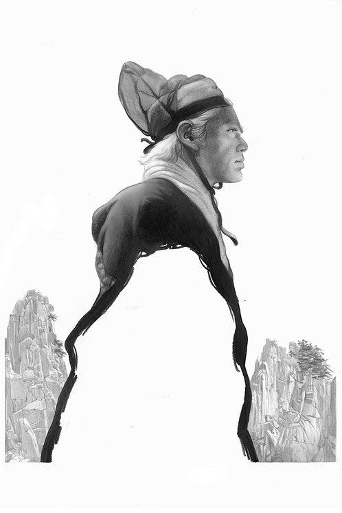 Criterion's DRAGON INN  original drawing for poster