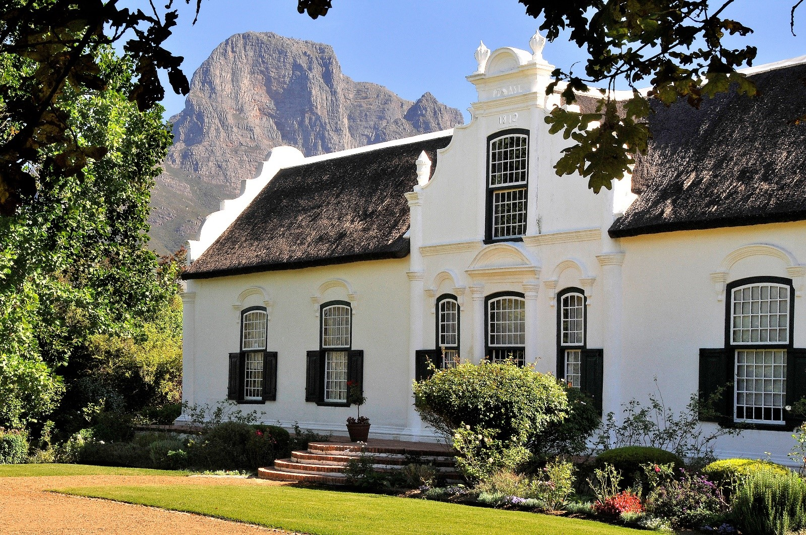 The manor house at Boschendal in Franschhoek South Africa, whilst on a vacation tours with Luxury Wi