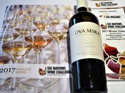 South Africa's Uva Mira Stellenbosch vineyard wins a trophy at the 6 Nations Wine Challenge trophy d