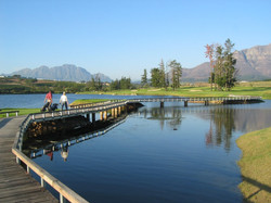 De Zalze golf course in the Cape Winelands of Stellenbosch South Africa - enjoy golf with Luxury Win