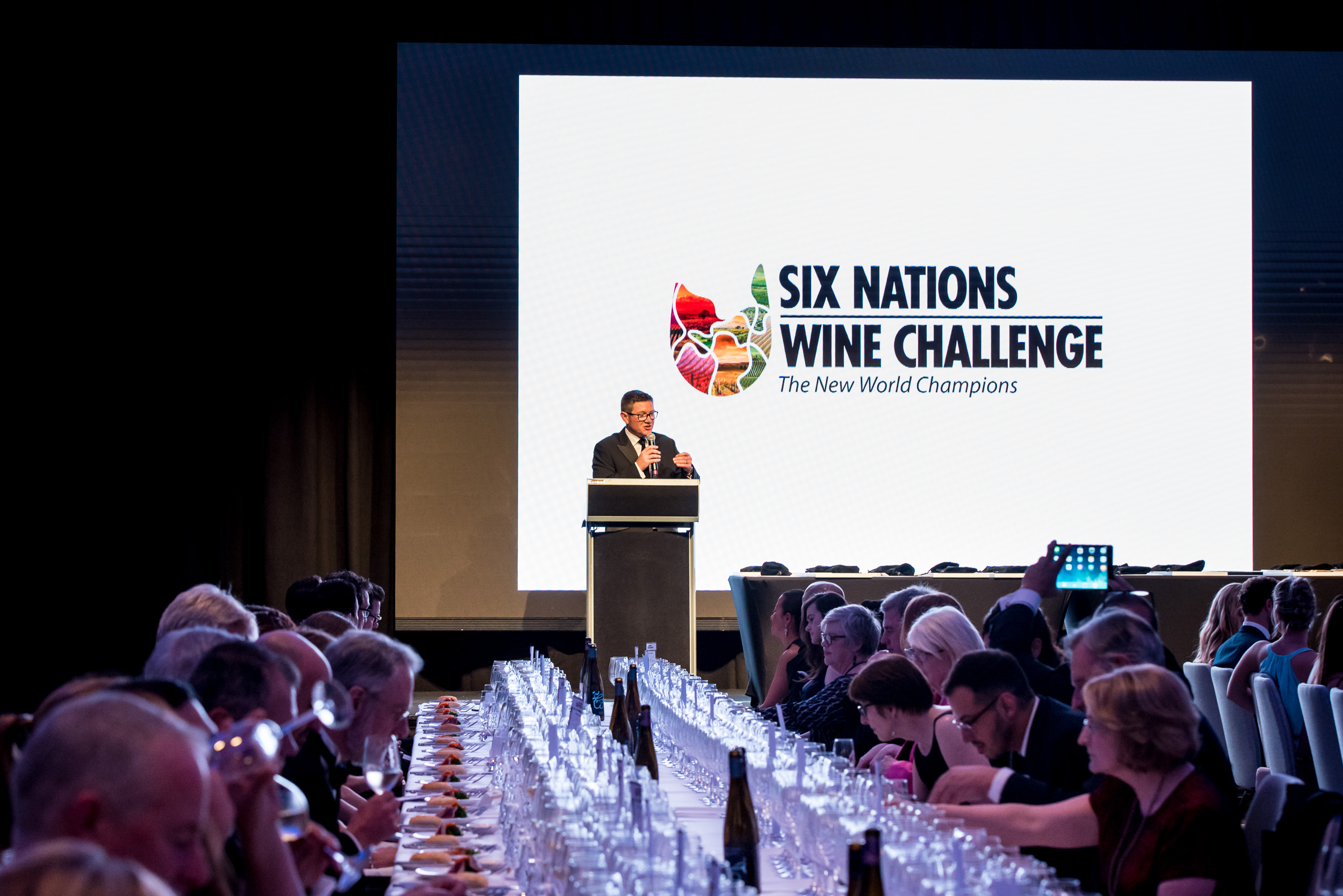Six Nations Wine Challenge Dinner Master of Ceremonies - Luxury Wine Trails exclusive wine tours to