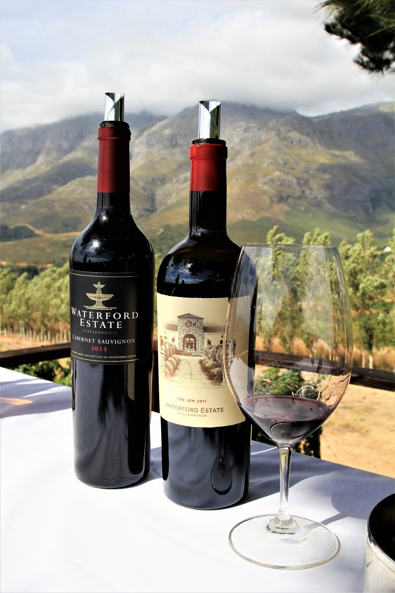 A wine safari tasting at Waterford Estate vineyard in Stellenbosch South Africa - photo by Luxury Wi
