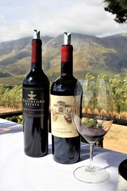 A wine safari tasting at Waterford Estate vineyard in Stellenbosch South Africa - photo by Luxury Wi