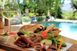 Mezze style dining at The Pool Room restaurant in the Cape Winelands on holiday with Luxury Wine Tra