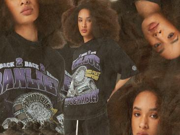 Vintage NBA en rap T-shirts inspiratie nieuwe capsule collectie Clan de Banlieue