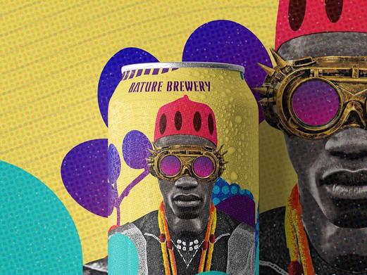 Kunstenaar Williams Chechet voorziet  biermerk van zijn iconische West-Afrikaanse moderne stijl
