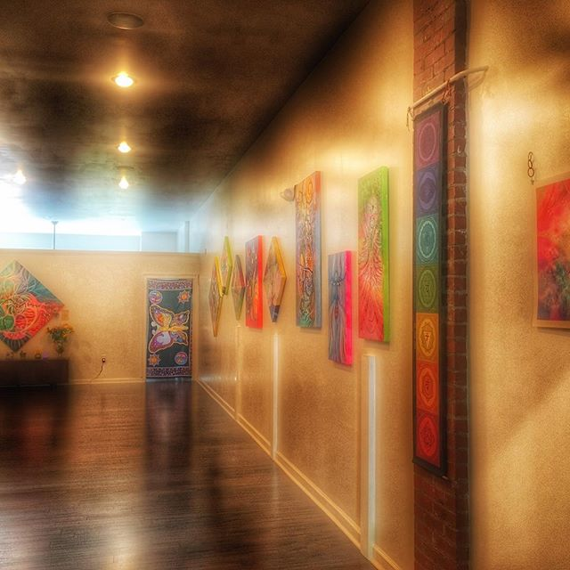 First art show in #Asheville #artbymarinafontana #3dart #art