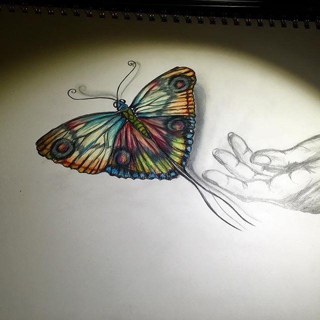 #artbymarinafontana #balancedbodhiart #butterfly #fly #befree #transformation #healingart