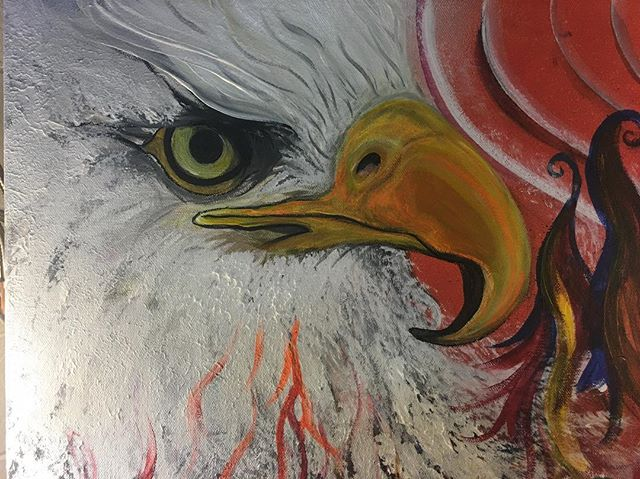 #eagleandcondor #artbymarinafontana #visionaryart #3Dart #visionaryartist