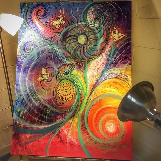#hummingbird #painting #colorful #visionaryart #balancedbodhiart #acrylic #colibri #spreadthelight #