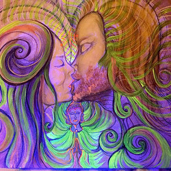 #lovers #3Dart #healingArt #visionaryart #balancedbodhiArt #marinajesicafontanaart #art #love