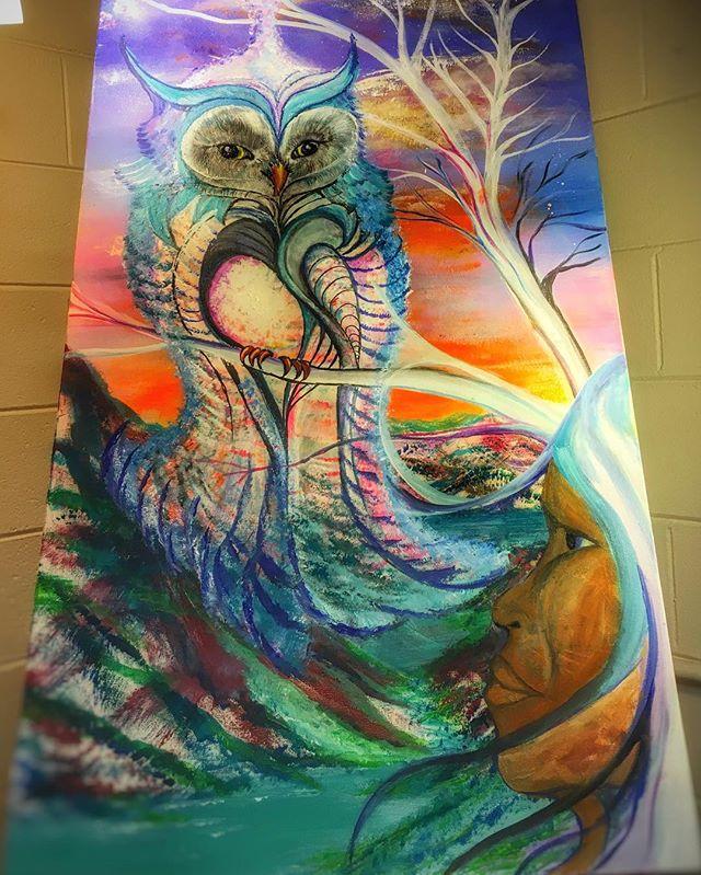 #artbymarinafontana #spiritanimal #loveowls #paint #acrylic #balancedbodhiart #visionaryart #3Dart