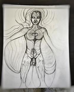#pencildrawing #openheart #visionaryart #artist #upcomingartist #heart #loveripples #artbymarinafont