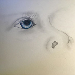 #artbymarinafontana #artist #newartist #upandcomingartist #childseyes #eye #balancedbodhiart #drawin