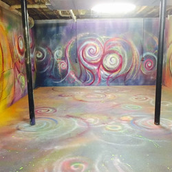 Painting my basement 😜🎨💗