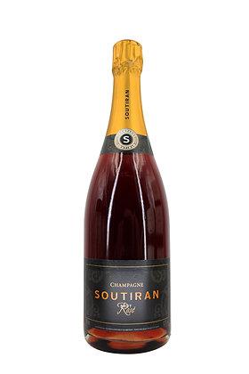 Champagne Soutiran Rose Brut Grand Cru