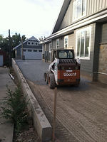 Driveway excavation and grading