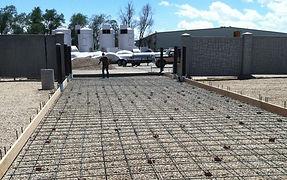 Commercial concrete driveway