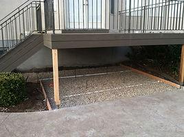 Business concrete driveway