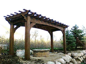 Large Timber Pergola