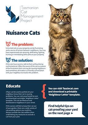 Nuisance Cats factsheet - TassieCat