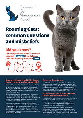 Roaming Cats factsheet - TassieCat
