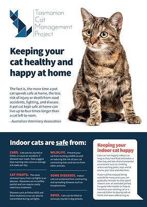 Healthy and happy at home factsheet - TassieCat