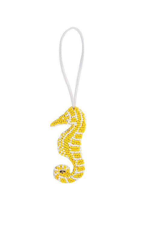 Seahorse Charm - Yellow
