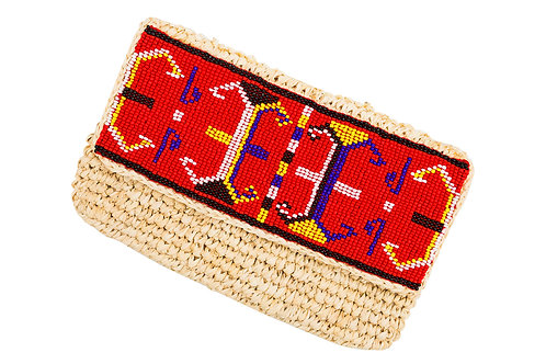 Aztec Red Clutch