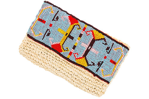 Aztec Blue Clutch