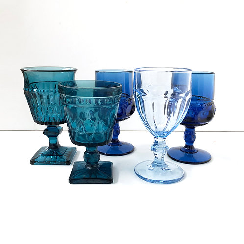 Blue Goblets #16 - Assorted Set of 5