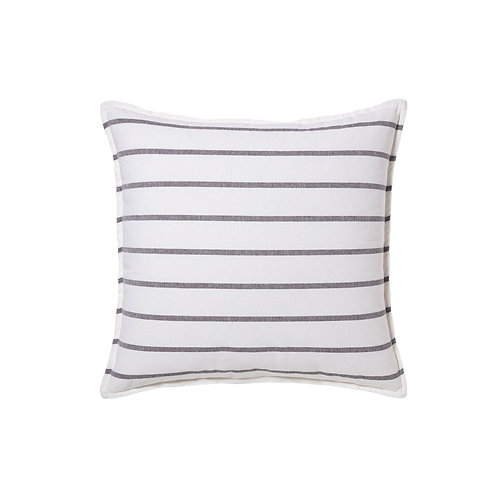 Large Black + White Striped Pillows - Set of 2