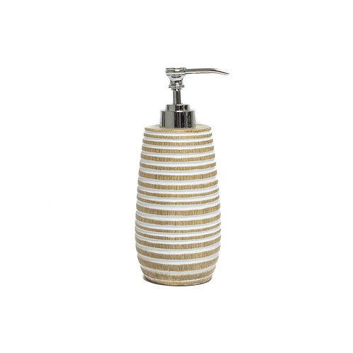 Textured Wood Soap Dispenser