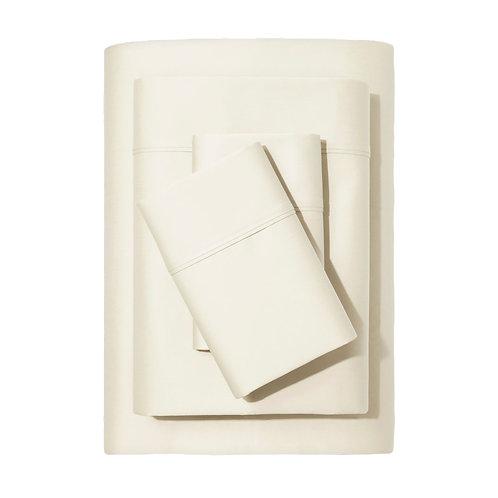 Snowfall Creamy White Sheet Set - King