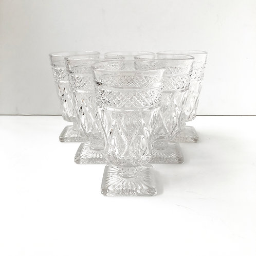 Clear Goblets #24 - Set of 6