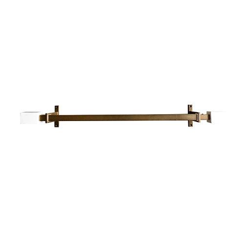 West Elm Marble + Brass Expandable Curtain Rod