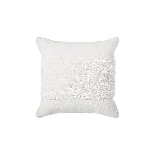 Tufted Modern Pillow - White